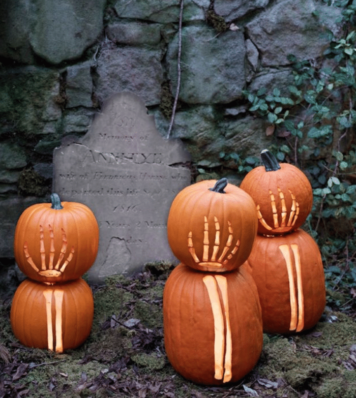 halloween, græskar udskæring, udhulning