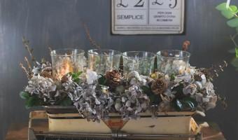 ♥ Glædelig 1. adventssøndag! Og en sidste DIY vintage adventskrans for i år