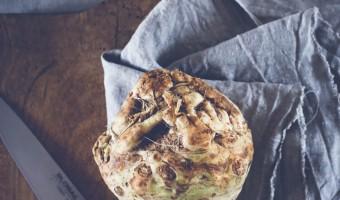 Cremet sellerisuppe med kammuslinger