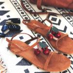 Cherry summer sandals DIY