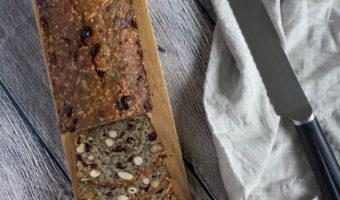 Glutenfrit stenalderbrød med tranebær