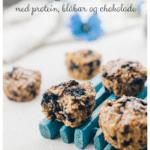 Havregrødsmuffins med protein, blåbær og chokolade