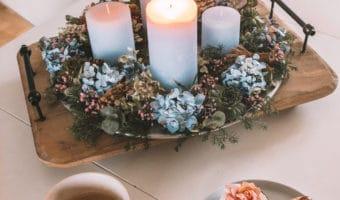 Adventskrans 2017, julepynt og årets julebuket