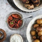 Ovntørrede langtidsbagte tomater