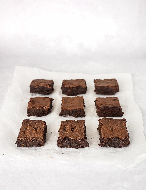 brownie, brownies med kandiseret appelsinskaller, bedste brownie