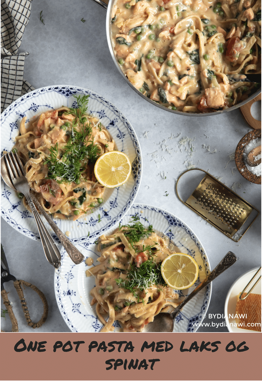 one pot pasta med laks, pasta med laks, nem aftensmad